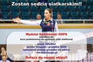 plakat_kurs sędziów OZPS 2020